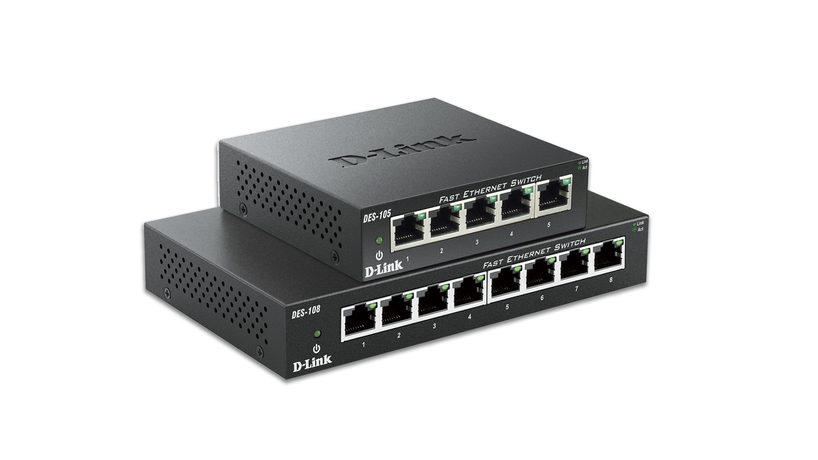 5-Port 10/100 Unmanaged Metal Desktop Switch (DES-105) | D-Link