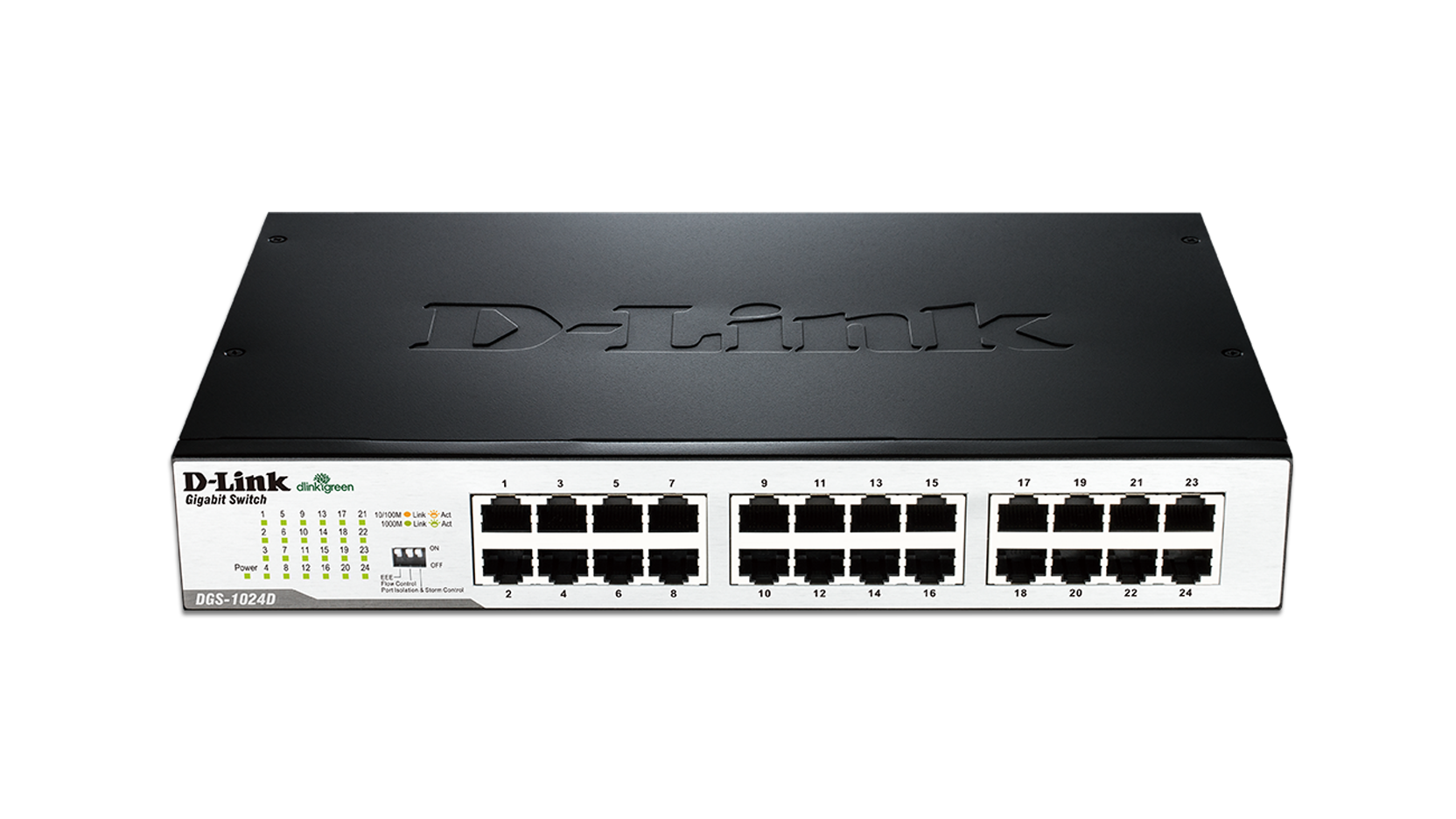 24 port gigabit unmanaged desktop rackmount switch dgs 1024d d link