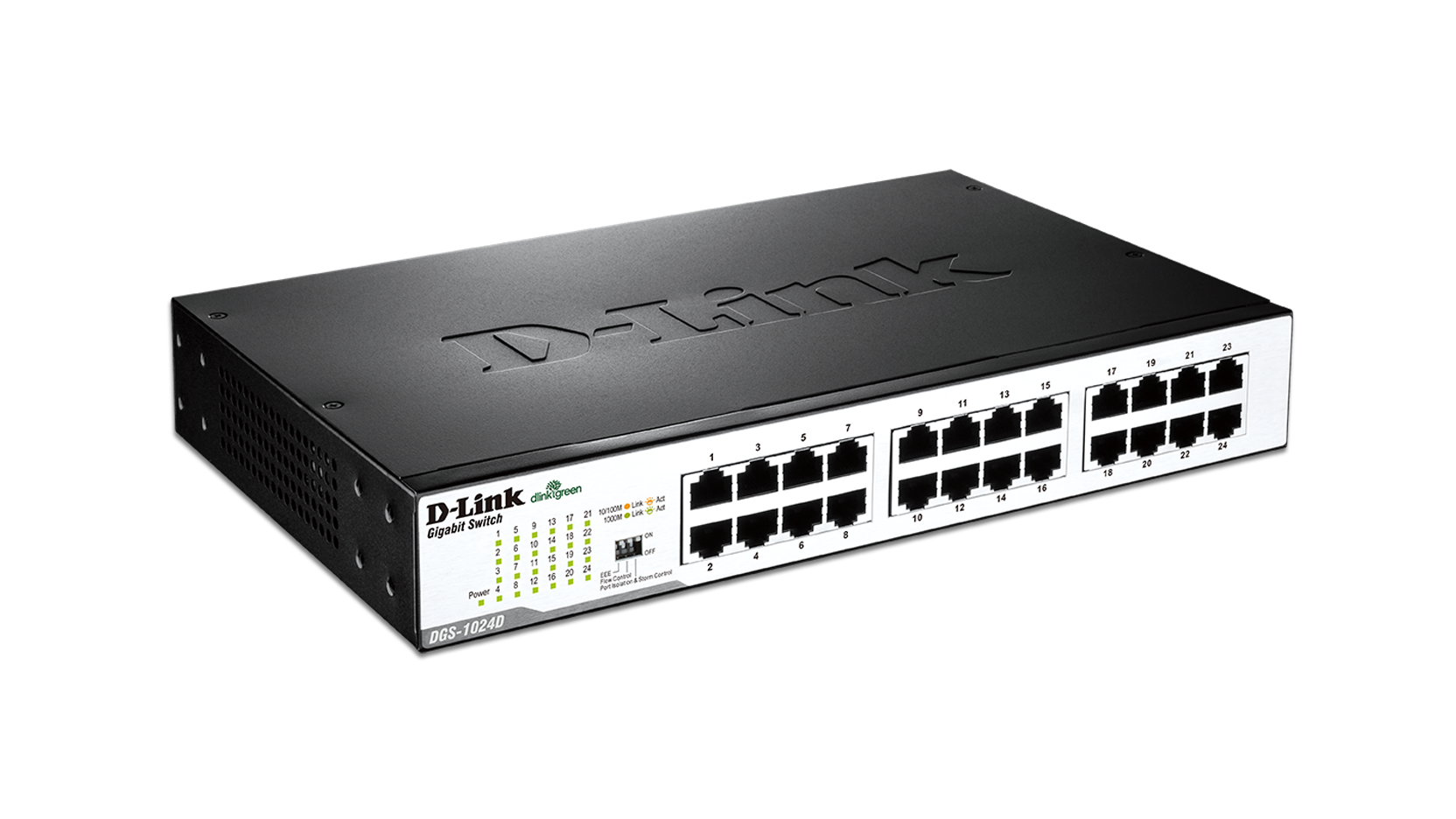 24 Port Gigabit Unmanaged Desktop Rackmount Switch Dgs