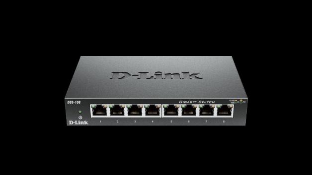 8-Port Gigabit Unmanaged Metal Desktop Switch (DGS-108 ...