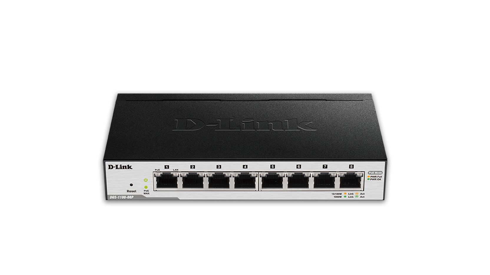 D Link Smart Managed 8 Port Gigabit PoE Switch DGS 1100 08P