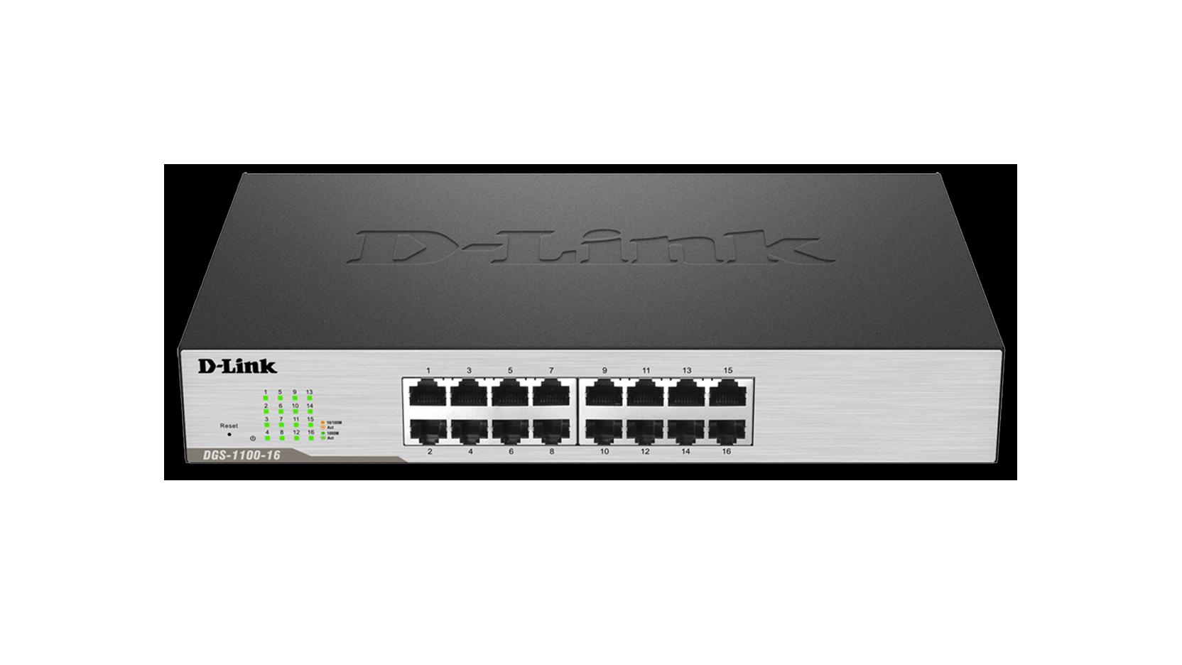 DLink Smart Managed Port Gigabit Switch DGS DLink - Switch 16 ports gigabit