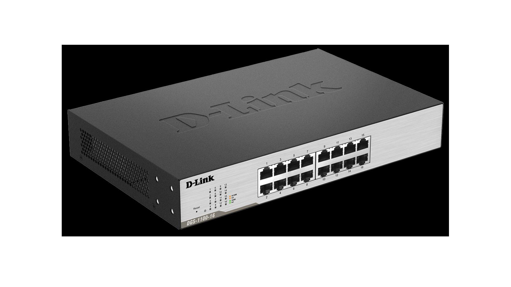 DLink Smart Managed 16Port Gigabit Switch DGS110016 DLink