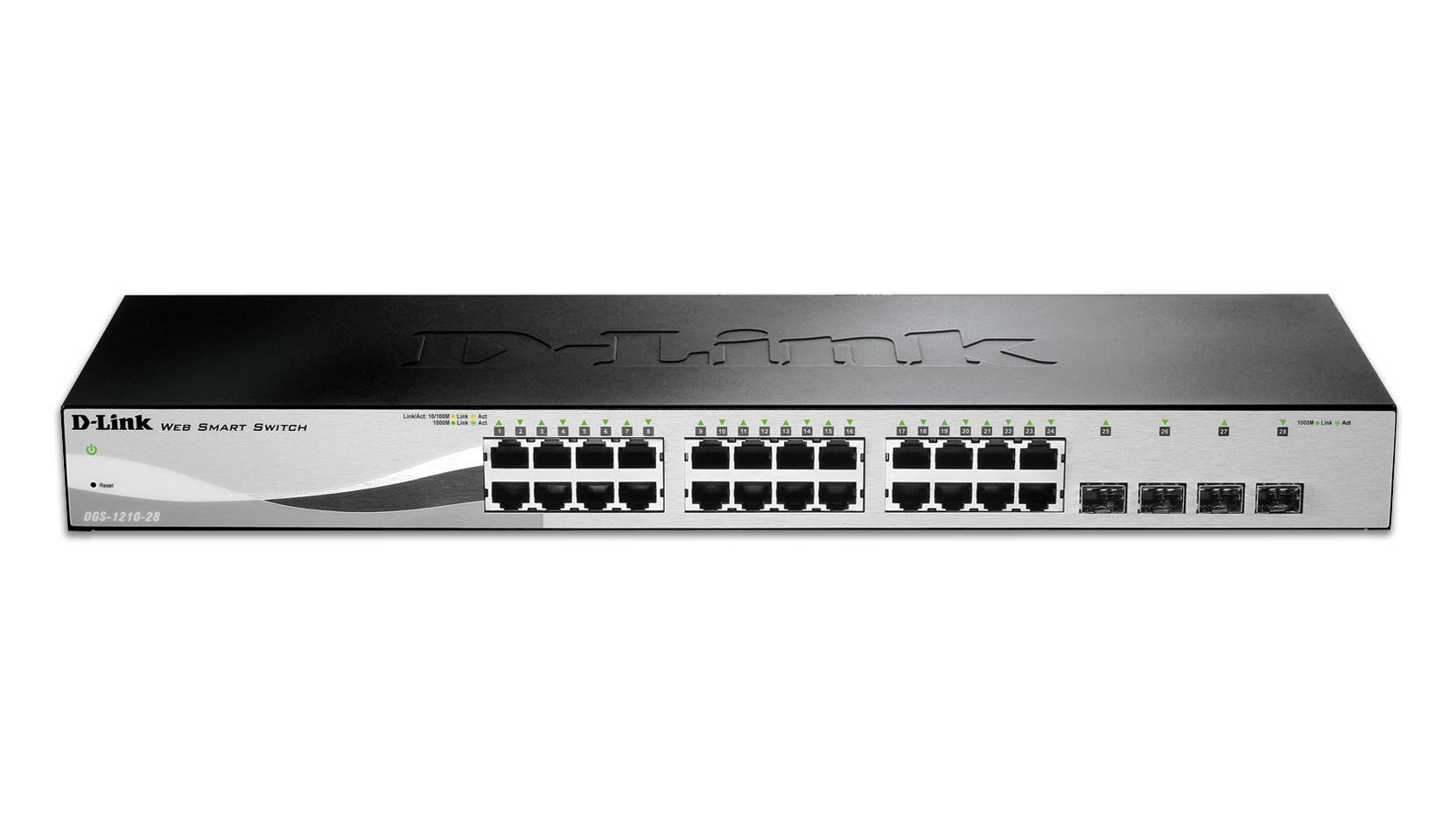 28 port gigabit web smart switch including 4 gigabit sfp ports. Black Bedroom Furniture Sets. Home Design Ideas
