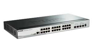 28-Port Gigabit Stackable SmartPro  Switch including 2 SFP and 2 10GbE SFP+ ports