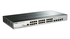 28-Port Gigabit Stackable SmartPro  PoE Switch including 2 SFP and 2 10GbE SFP+ ports