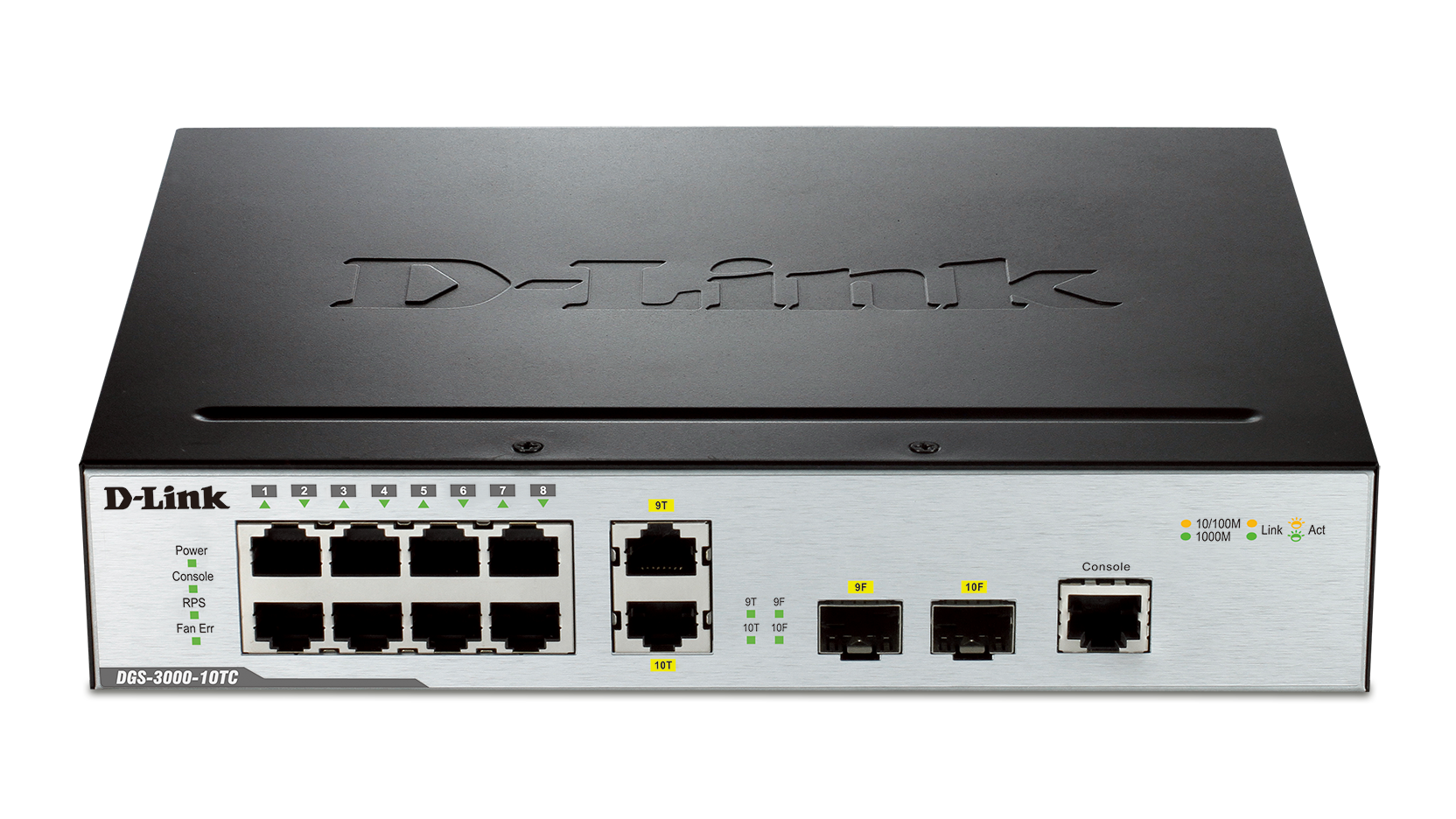 10 Port Gigabit L2 Managed Switch Including 2 Gigabit