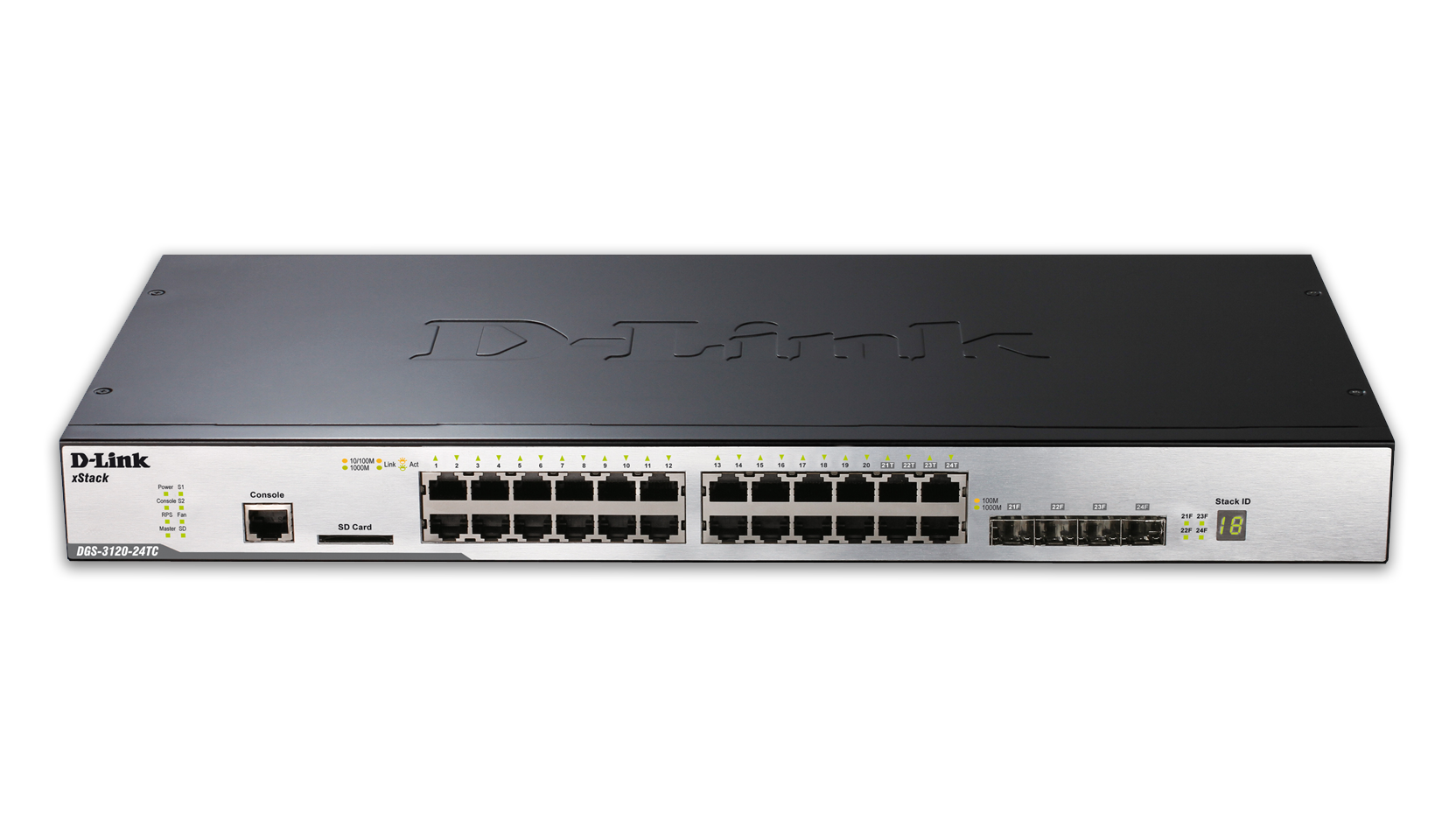 24 port managed gigabit stackable l2 switch including 4 combo sfp ports d link