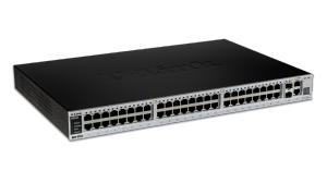 48-Port Fast Ethernet L2 managed switch, 4 Gigabit Combo BASE-T/SFP ports