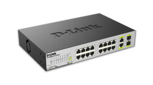 18-Port 10/100 Unmanaged PoE Switch Including 2 1000BASE-T/SFP Combo Ports