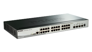 24-Port Gigabit Stackable Smart Managed Switch with 4 10GbE SFP+  ports