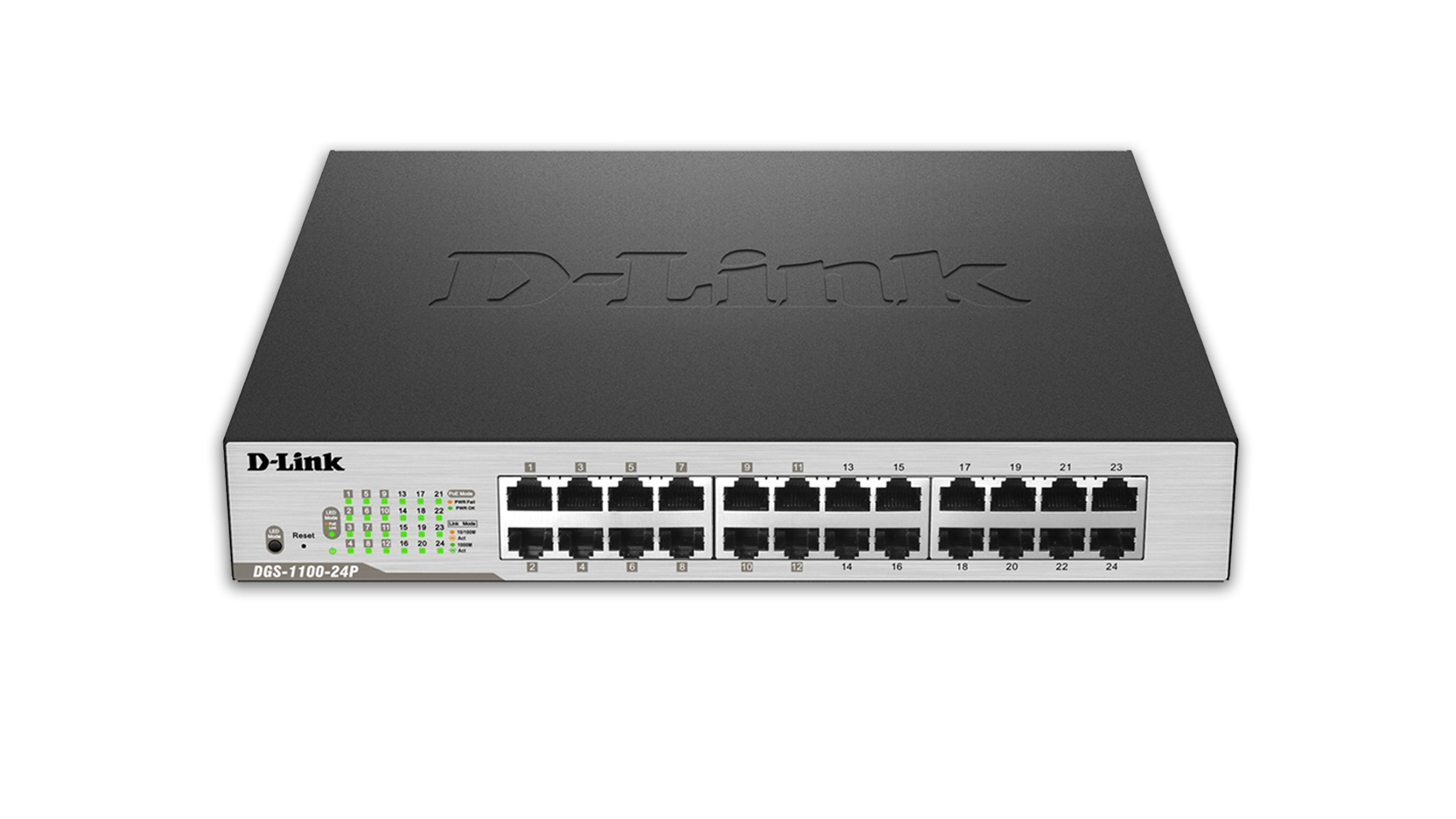 D Link Smart Managed 24 Port Gigabit Poe Switch Dgs 1100 24p Module With 6port Network And Cable Distribution
