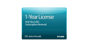 NetDefend DFL-260 Anti-Virus License 12-months