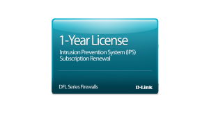 NetDefend DFL-2560 Intrusion Prevention System License 12-months