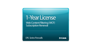 NetDefend DFL-260/260E Dynamic Web Content Filtering License 12-months
