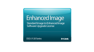 Standard Image to Enhanced Image Upgrade License for the DGS-3120-24TC Switch