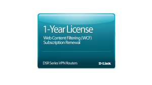 DSR-500 Dynamic Web Content Filtering License 12-months