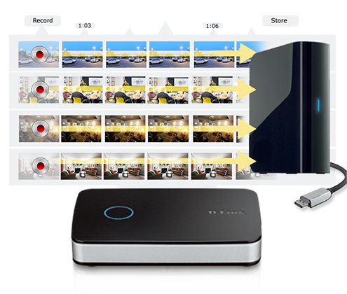 wi fi cameras d linkconnect the mydlink camera video recorder and up to 2 hard drives to simultaneously stream and record up to 4 d link wi fi cameras