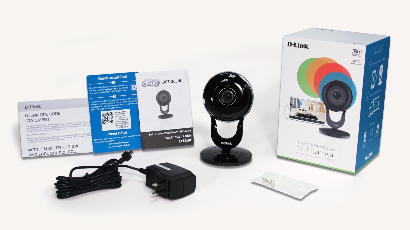 Full Hd 180 Degree Wi Fi Camera Dcs 2630l D Link Ip W 15 In The Box