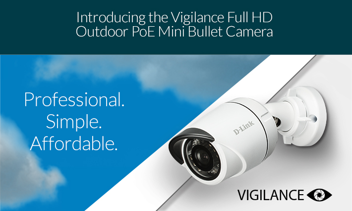introducing the Vigilance Full HD Outdoor PoE Mini Bullet Camera