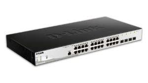 24-Port Metro Ethernet Gigabit PoE Switch with 4 Gigabit SFP ports