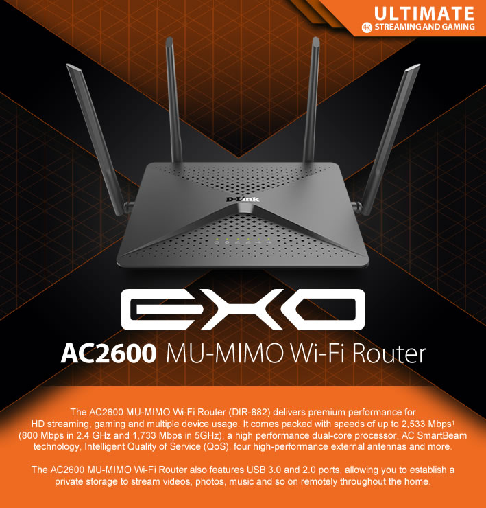 Ac2600 Mu Mimo Wi Fi Router D Link