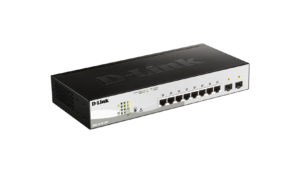 8-Port Gigabit Smart Managed PoE Switch with 2 Gigabit SFP ports, 65W PoE Budget