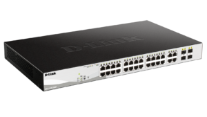 24-Port Gigabit Smart Managed PoE Switch with 4 Gigabit RJ45/SFP COMBO ports, 370W PoE Budget