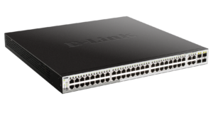 48-Port Gigabit Smart Managed PoE Switch with 4 Gigabit RJ45/SFP COMBO ports, 370W PoE Budget