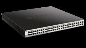 48-Port Gigabit Smart Managed PoE Switch with 4 Gigabit RJ45/SFP COMBO ports, 370W PoE Budget