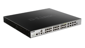 28-Port Layer 3 Stackable Managed Gigabit PoE Switch including 4 10GbE Ports