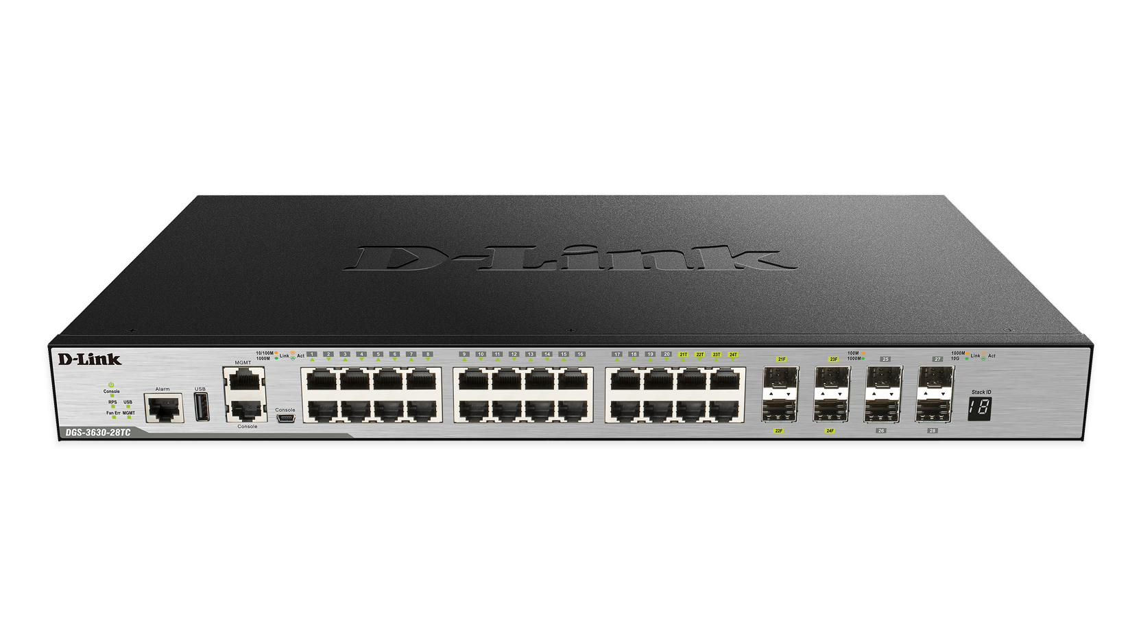 28 Port Layer 3 Stackable Managed Gigabit Switch Including