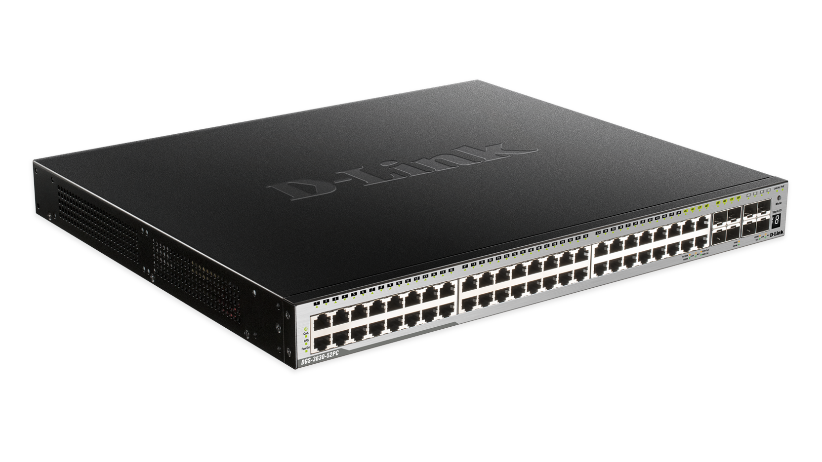Managed Switches D Link Module With 6port Network Switch And Cable Distribution 52 Port Layer 3 Stackable Gigabit Poe Including 4 10gbe Ports