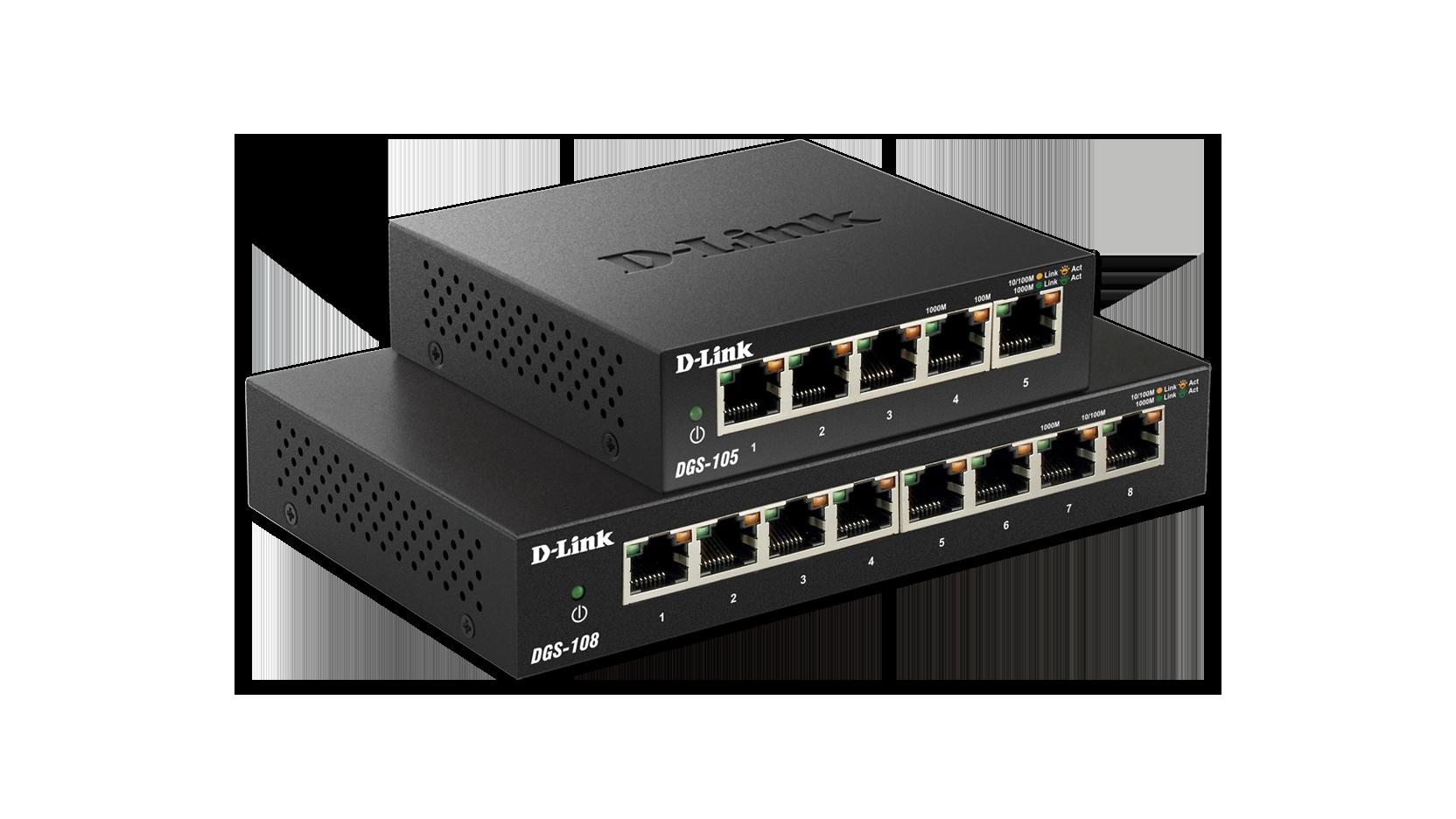 5 Port Gigabit Ethernet Unmanaged Metal Desktop Switch Dgs 105 D Ether Crossover Cable Diagram Further Also Cat Link