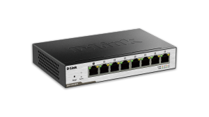 DGS-1100 Series Smart Managed 8-Port PoE Powered Gigabit Switch
