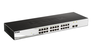 24-Port Gigabit Smart Managed Switch with 2 Gigabit SFP ports
