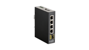 5-Port Gigabit Unmanaged Industrial Switch including one SFP port – Wide Temp