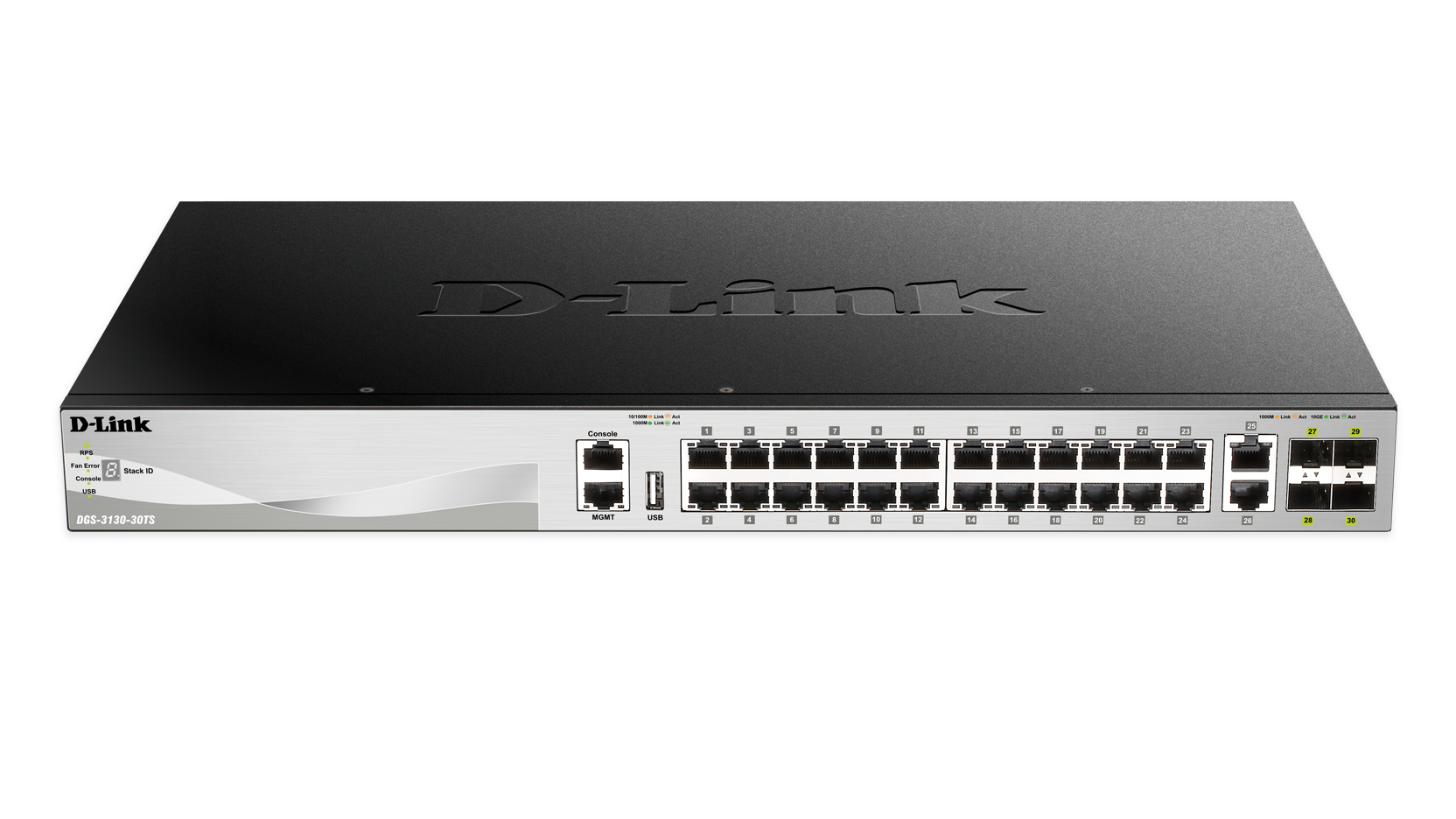 28-Port Layer 3 Stackable Managed Gigabit Switch including 4 10GbE ...