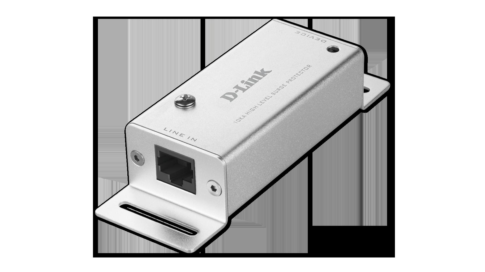 Gigabit Ethernet POE+ RJ45 Indoor 10kA Surge Protector | D-Link